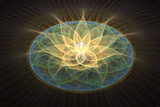 Gold Lotus  by PsySun, abstract->fractal gallery