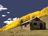 Line Shack and Aspens by fotobob, Photography->Architecture gallery