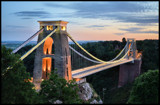 Clifton Suspension at dusk by Mannie3, photography->bridges gallery
