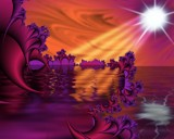 Fantasy landscape from alien land by TokenArt, abstract gallery