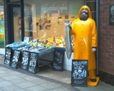 anyone for fish ? , from the man in yellow ! by the_runcorn_womble, Photography->Sculpture gallery
