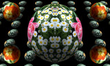 Circle Flowers by Flmngseabass, abstract gallery