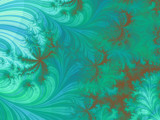 Teal Paisley by wintermoon, Abstract->Fractal gallery