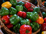 Basketful of Sweet Peppers by phasmid, Photography->Food/Drink gallery