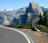 Yosemite - Half Dome Off A Curve by Zava, photography->mountains gallery