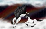 Celestial Horses by Mithiri, illustrations->digital gallery