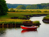red dinghy on a golden afternoon by solita17, photography->landscape gallery