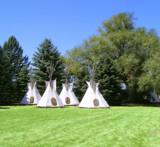 Teepees at the Three Maidens by Gergie, Photography->Landscape gallery