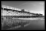 Black and white Balboa peir. California by prismmagic, photography->landscape gallery