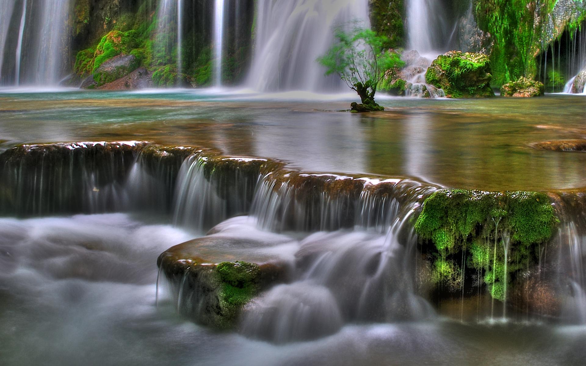 обои на рабочий стол водопады весной № 57899 бесплатно