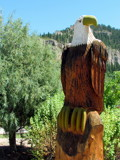 Wooden Eagle by Pistos, photography->sculpture gallery