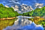 Great Pee Dee River HDR by Mvillian, photography->water gallery