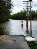 Road Flooded Sign? Do You Think, duh by icedancer, photography->landscape gallery