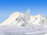 Crystal Ice Palace, revised- (from Cottage in Glencoe) by jaecee666, Contests->Fantasy Landscapes gallery