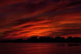 Sunset Sky Over Winona Lake The Drama Continues by tigger3, photography->sunset/rise gallery