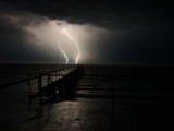 Lighting Up the Jetty by peregrine, Photography->Skies gallery