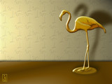 Brass Flamingo by Jhihmoac, Illustrations->Digital gallery