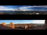 Delicate Arch and Twin Sisters Panoramics by Jawatts1, Photography->Mountains gallery