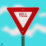 YELL...The Right of Way - 2012 by Jhihmoac, illustrations->digital gallery