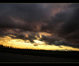 The Stark of the Road and the Sunset by verenabloo, Photography->Sunset/Rise gallery