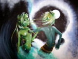 Shallow vs Deep by PrettyFae, Illustrations->Traditional gallery