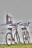 Mackinaw bikes have gone as far as they can go..... by nanadoo, photography->lighthouses gallery