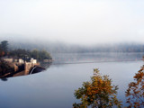 Foggy morning at the dam by tib, photography->shorelines gallery