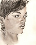 RIHANNA by Tochi, Illustrations->Traditional gallery