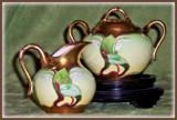 Antique series 8 - Art Nouveau Creamer & Sugar by trixxie17, photography->still life gallery