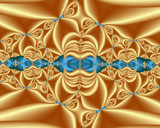 Golden Silk Blue Bows by Frankief, Abstract->Fractal gallery