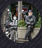 Harley and The Man in 'Leathers' by verenabloo, Photography->People gallery