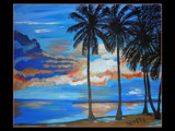My Painting: Palm Tree Day by verenabloo, Illustrations->Traditional gallery