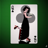 The Queen of Clubs Too by Jhihmoac, illustrations->digital gallery