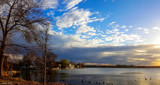 Evening Sky Over Winona Lake by tigger3, photography->sunset/rise gallery