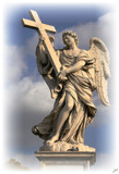 Angel with the Cross - Ponte Sant'Angelo by fogz, Photography->Sculpture gallery