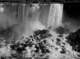 Niagara on the Rocks - b/w version by mesmerized, contests->b/w challenge gallery