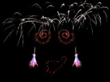 Fireworks Face by wheedance, Photography->Fireworks gallery