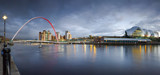 Millennium bridge & Sage theatre panorama by Leahcim_62, photography->city gallery