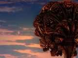 A Mandelbulb Tree at Sunset. by LynEve, abstract gallery