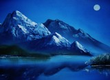 MOONLIT LAKE by nuke88, illustrations->traditional gallery