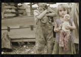 Stepping out of time Children of destitute Ozark mountaineer by rvdb, photography->manipulation gallery