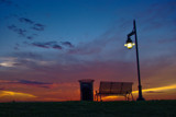 Baton Rouge Levee Bench by mikerkim, Photography->Sunset/Rise gallery