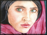 Afghan Girl - reworked by Papi11on, Illustrations->Traditional gallery