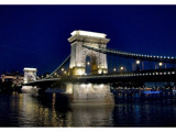 Chain Bridge at Night by varkonyii, Photography->Bridges gallery
