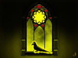 The Raven in the Window by Jhihmoac, illustrations->digital gallery