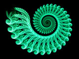 Mint Green Spiral by razorjack51, Abstract->Fractal gallery