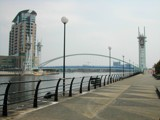 Millennium Bridge, Salford Quays (2) by fogz, Photography->Architecture gallery