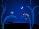 Alien and Chameleon by vladstudio, Illustrations->Digital gallery