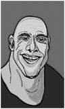 Dwayne Johnson by bfrank, illustrations gallery