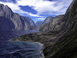 Mountain Seashore by timw4mail, computer->landscape gallery